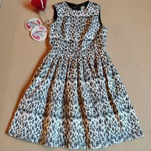Black & silver leopard dress pockets by Taylor 6
